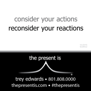 consider your actions reconsider your reactions