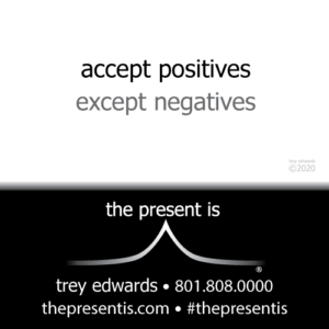 accept positives except negatives