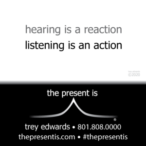 hearing is a reaction listening is an action